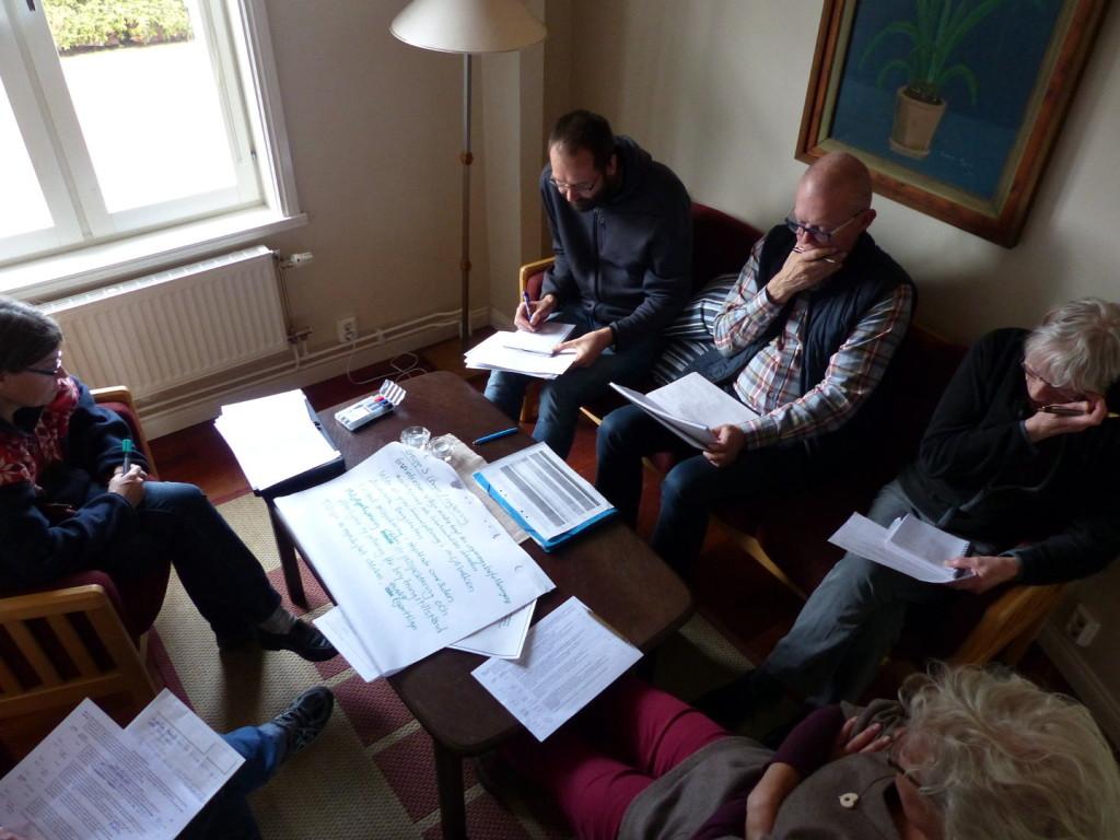 Gruppdiskussion kring gruvor.